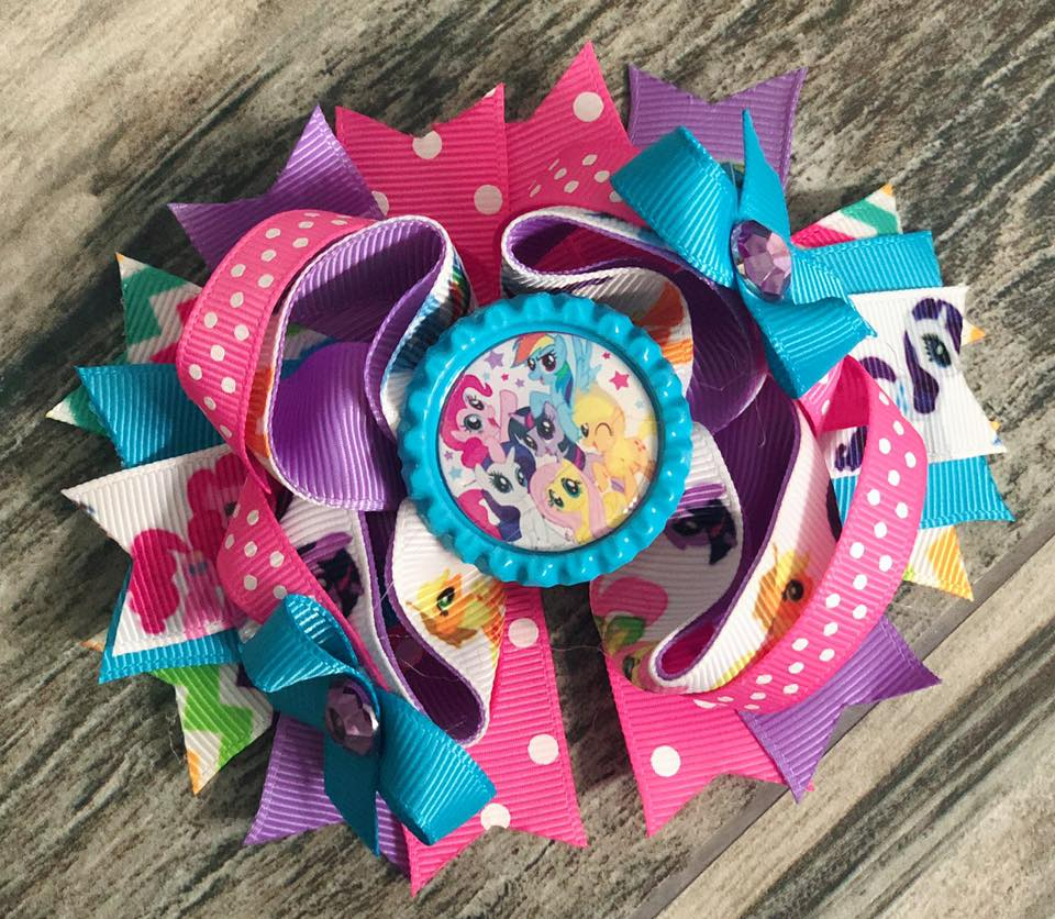 My Little Pony Hair Bow - Nico Bella Boutique