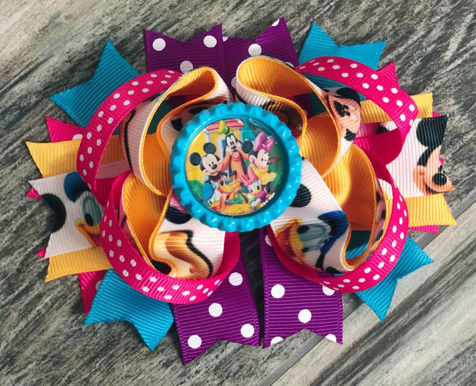 Mickey Mouse Clubhouse Hair Bow - Nico Bella Boutique