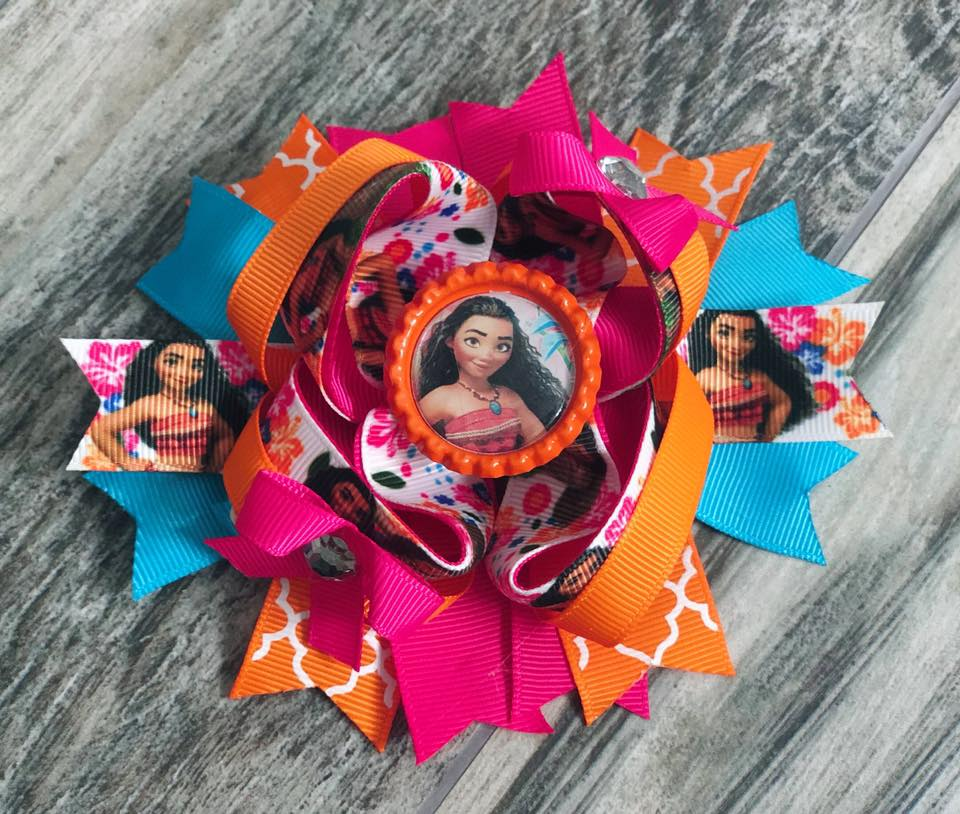 Moana Hair Bow - Nico Bella Boutique