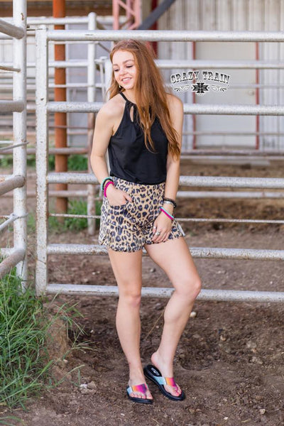 Suede You Look Leopard Shorts - Nico Bella Boutique