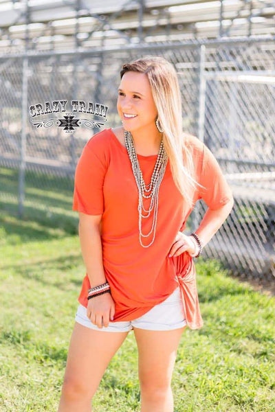 Let's Get Knotty Orange Top - Nico Bella Boutique