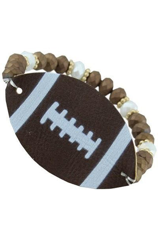 Football Leather Stone Bracelet - Nico Bella Boutique