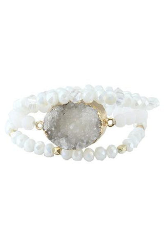 Druzzy Layered Bracelet Set - Nico Bella Boutique
