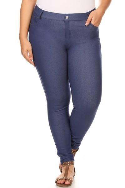 Denim Blue Denim Jeggings - Nico Bella Boutique