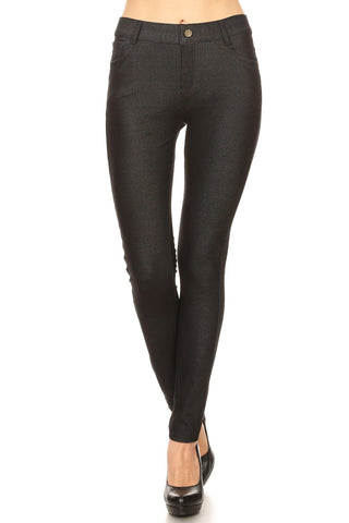 Black Denim Jeggings - Nico Bella Boutique