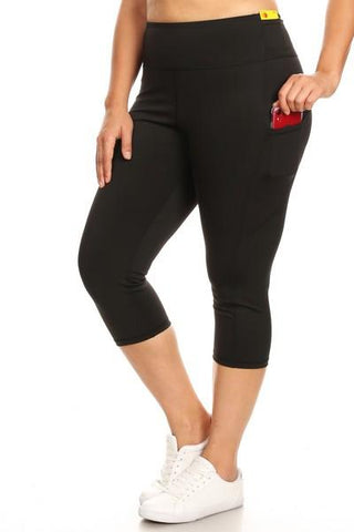 Black Capri Workout Pocket Pants - Nico Bella Boutique