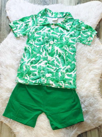 Palm Boys Short Set - Nico Bella Boutique