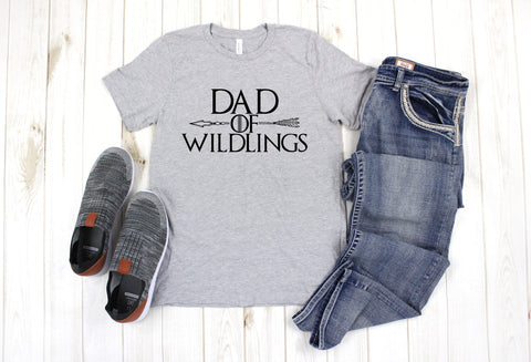 Mens Dad of Wildlings Graphic Tee - Nico Bella Boutique