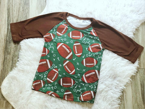 Football Raglan - Nico Bella Boutique