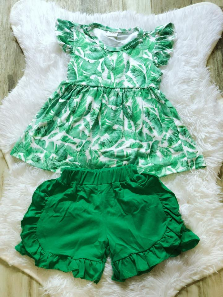 Palm Girls Short Set - Nico Bella Boutique