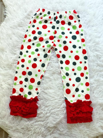Christmas Polka Dot Icing Pants - Nico Bella Boutique