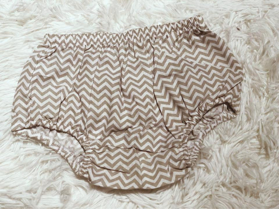 Grey Chevron Baby Bloomer - Nico Bella Boutique