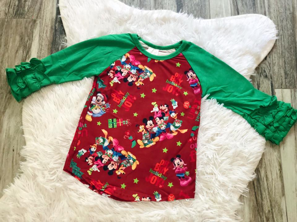 Mickey Mouse Icing Raglan - Nico Bella Boutique