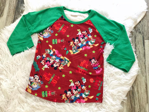 Mickey Mouse Raglan - Nico Bella Boutique