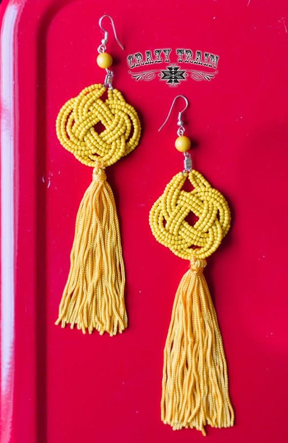 Mustard Cattywampus Earrings - Nico Bella Boutique