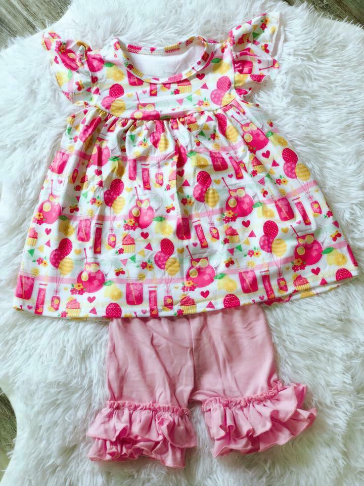 Pink Lemonade Short Set - Nico Bella Boutique