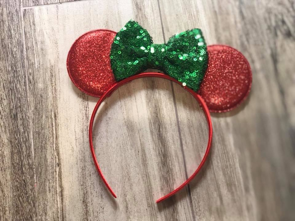 Red & Green Minnie Headband - Nico Bella Boutique