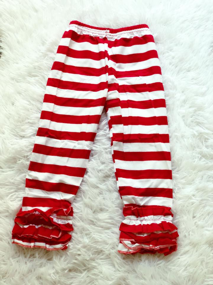 Red & White Striped Pants - Nico Bella Boutique