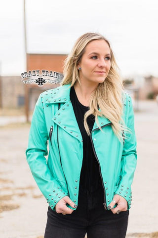 The Camaro Turquoise Jacket - Nico Bella Boutique