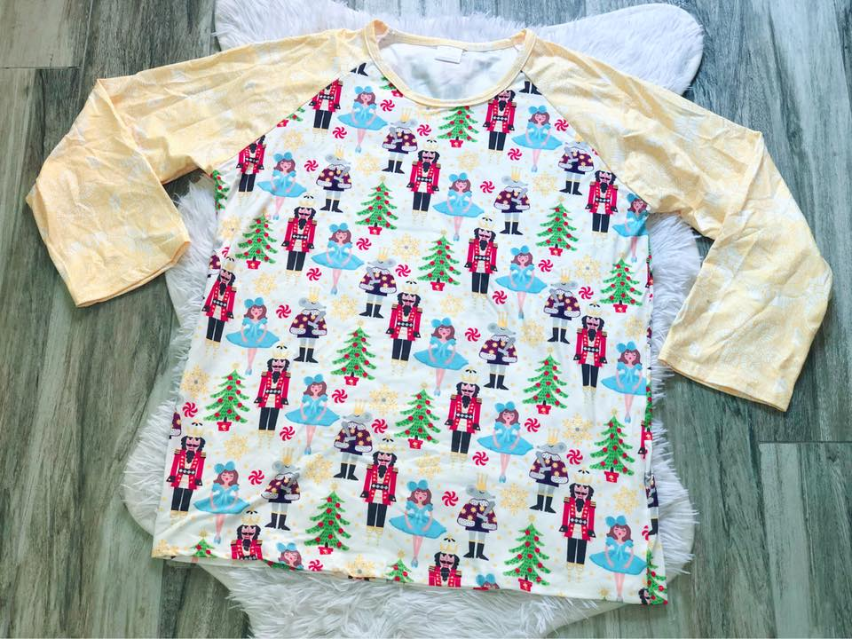 Nutcracker Raglan - Nico Bella Boutique