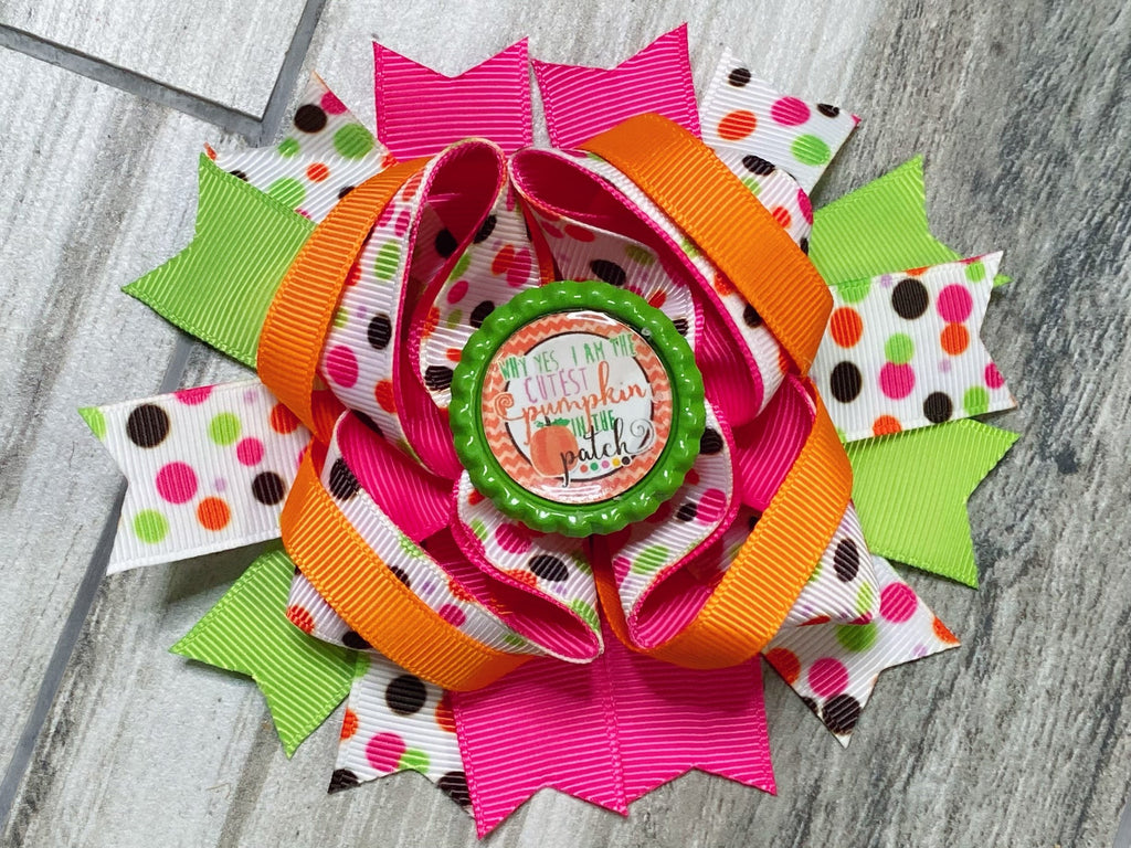 Cutest Pumpkin in the Patch Hair Bow - Nico Bella Boutique