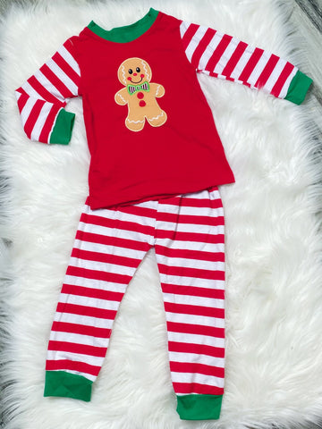 Gingerbread Boys Pajamas - Nico Bella Boutique