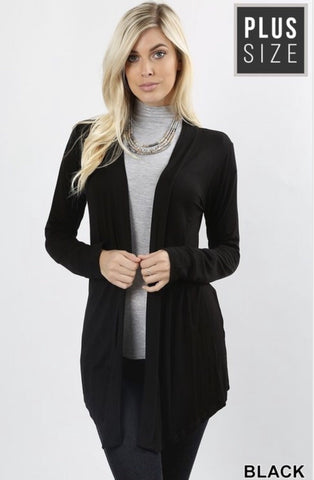 Women's Black Plus Size Cardigan - Nico Bella Boutique