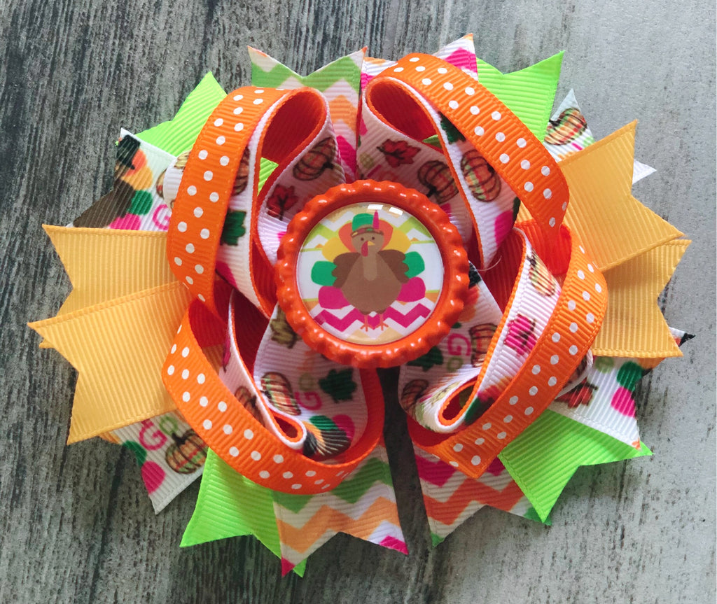 Turkey Colorful Hair Bow - Nico Bella Boutique