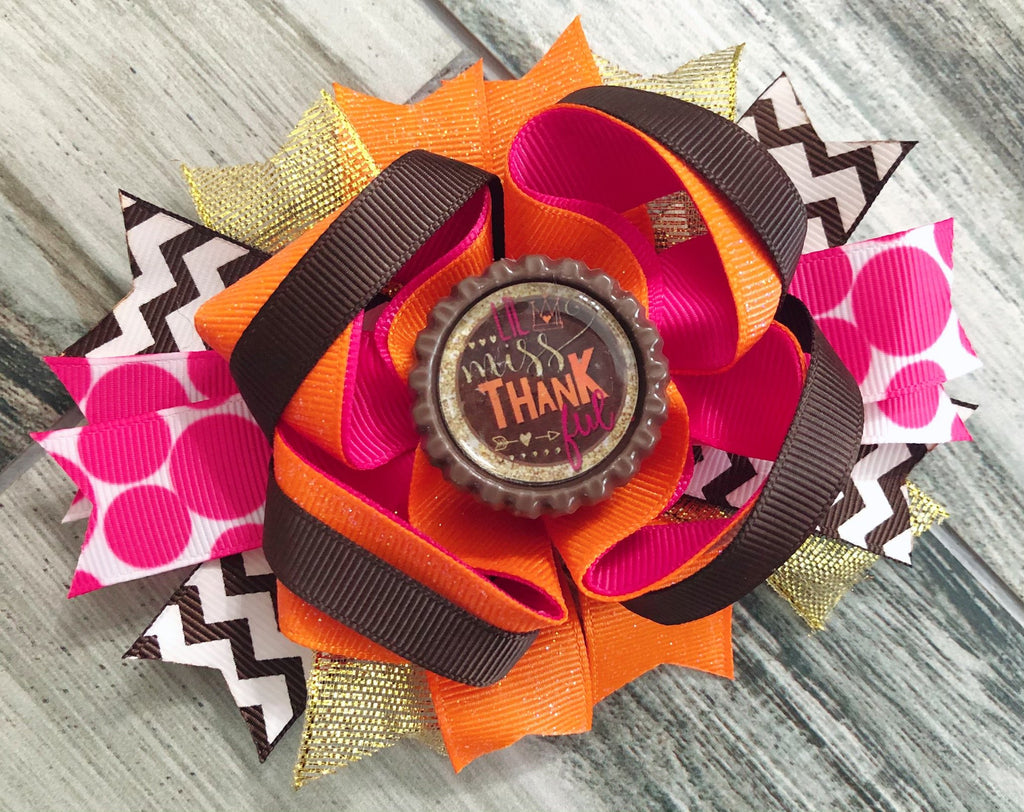 Lil Miss Thankful Hair Bow - Nico Bella Boutique
