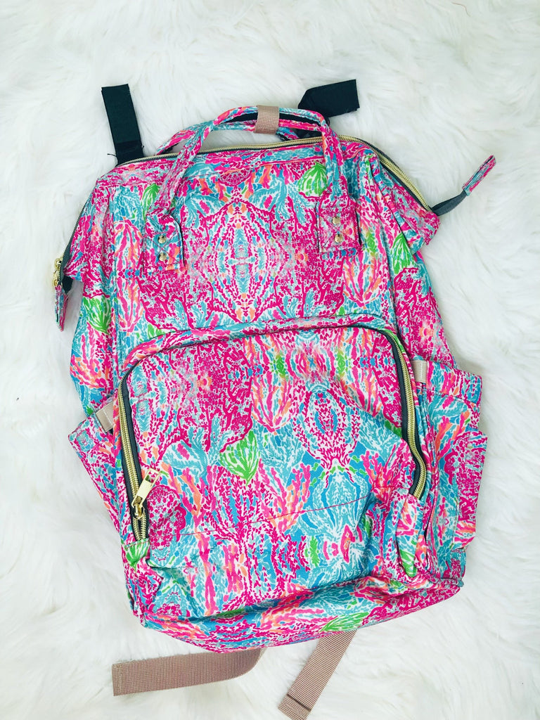 Coral Reef Diaper Backpack - Nico Bella Boutique