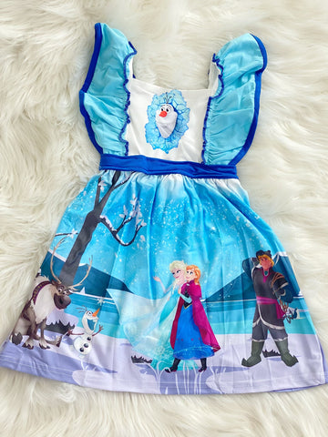 Frozen Princess Panel Dress - Nico Bella Boutique