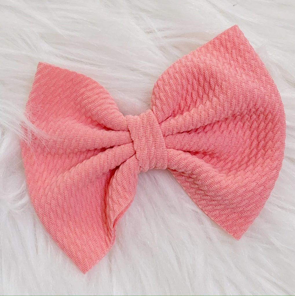 Dusty Mauve Pink Nylon Bow Hair Clip - Nico Bella Boutique