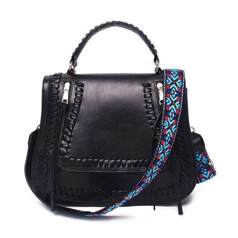 Black Guitar Strap Crossbody Purse - Nico Bella Boutique