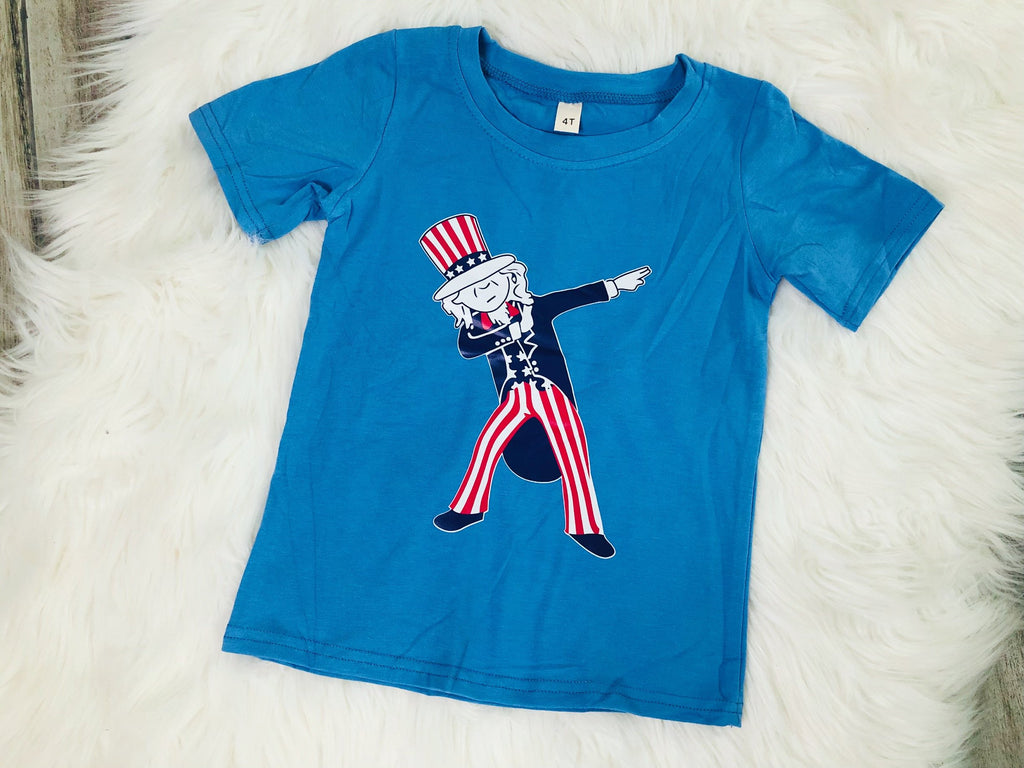 Dabbin Uncle Sam Tee - Nico Bella Boutique