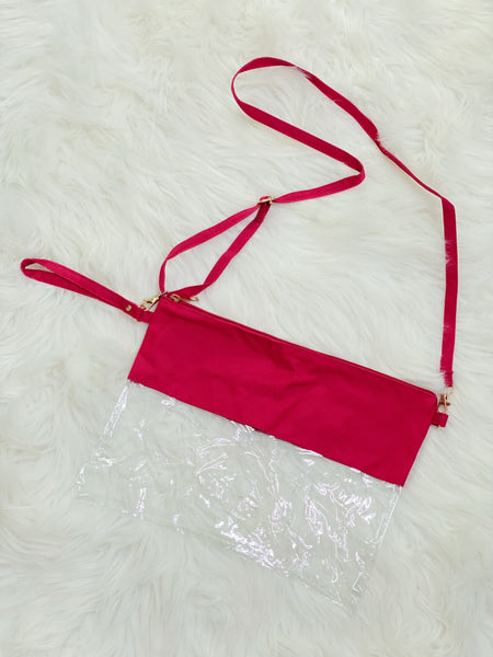 Red Stadium Crossbody Bag - Nico Bella Boutique