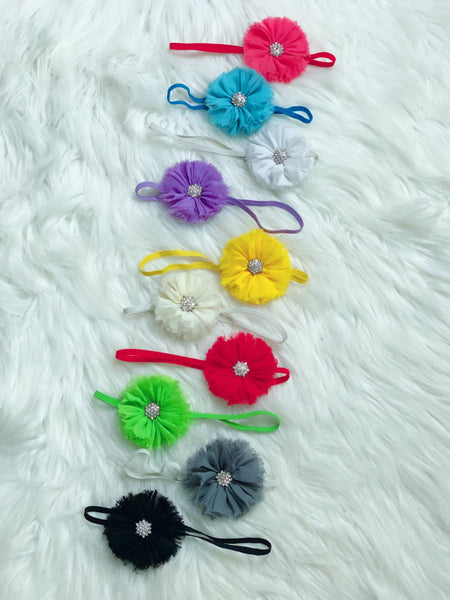 Fringe Flower Headband Set - Nico Bella Boutique