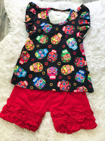 Sugar Skulls Short Set - Nico Bella Boutique