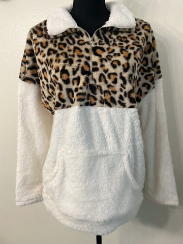 Leopard and Cream Sherpa - Nico Bella Boutique