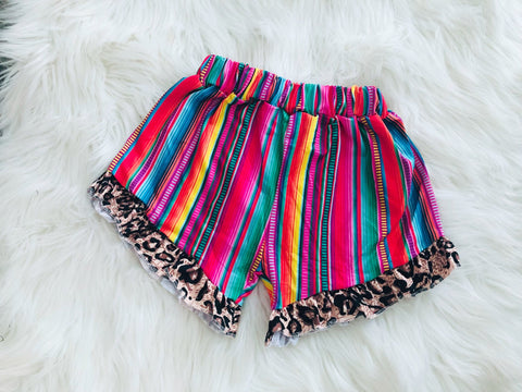 Serape Leopard Shorts - Nico Bella Boutique