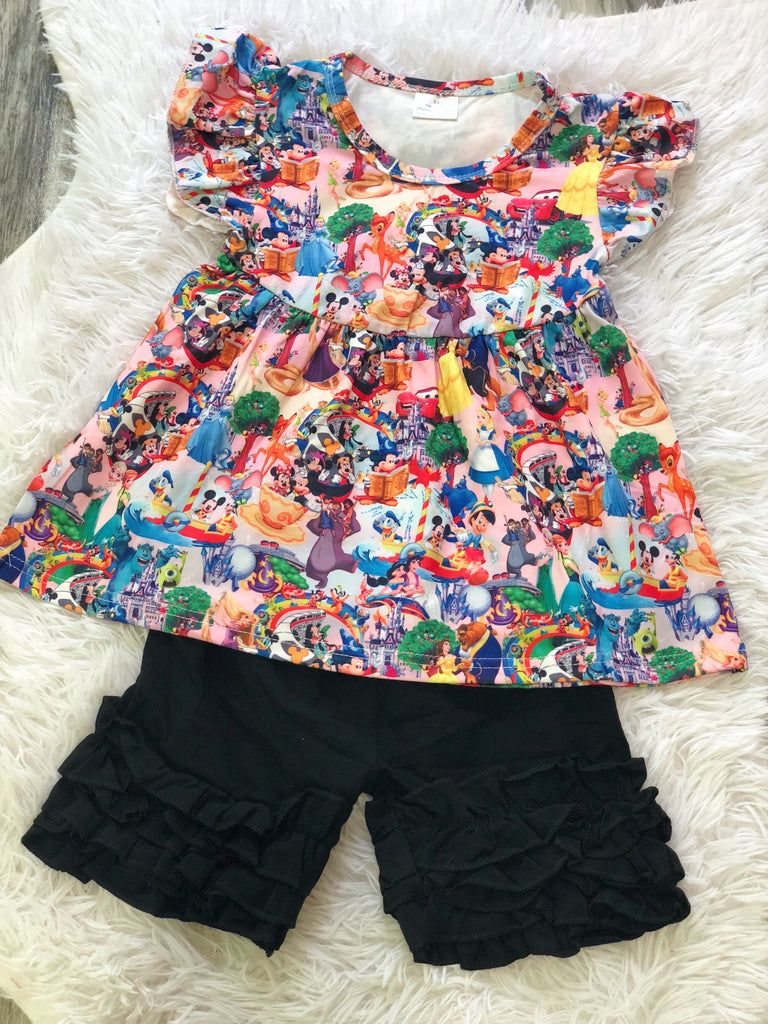 Disney Collage Short Set - Nico Bella Boutique