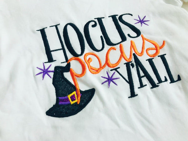 Hocus Pocus Y'all Embroidered Applique Shirt - Nico Bella Boutique