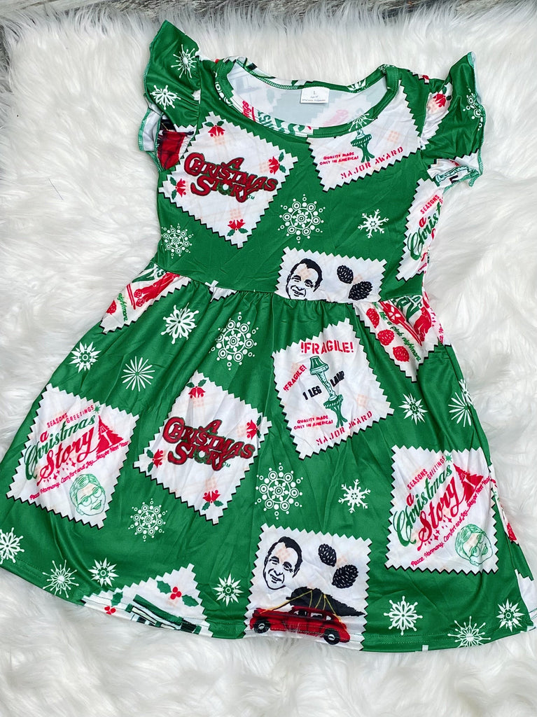 A Christmas Story Girls Pearl Dress - Nico Bella Boutique