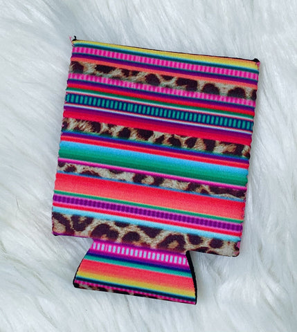 Leopard Serape Can Koozie - Nico Bella Boutique