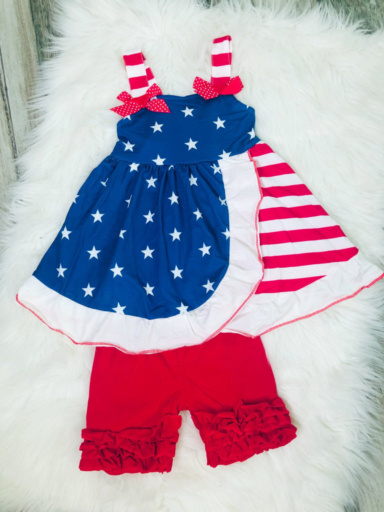 Stars & Stripes Short Set - Nico Bella Boutique