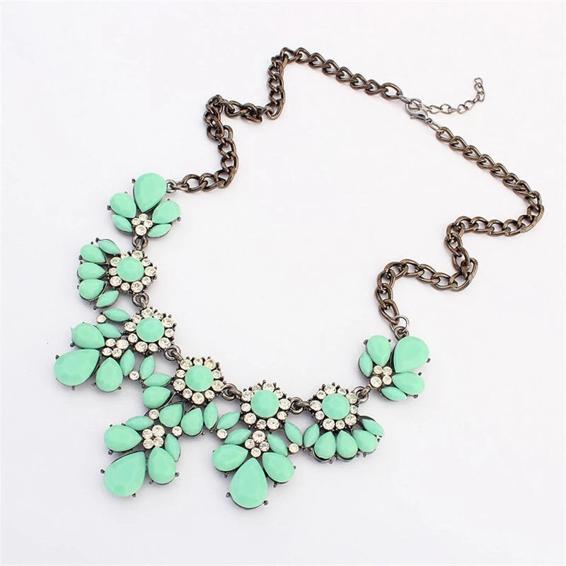 Mint Gem Statement Necklace - Nico Bella Boutique