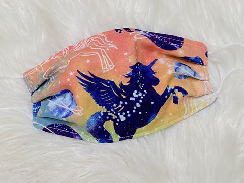 Adult Pegasus Unicorn Galaxy Tie Dye Face Mask