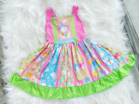Ultimate Happy Easter Bunny Twirl Dress