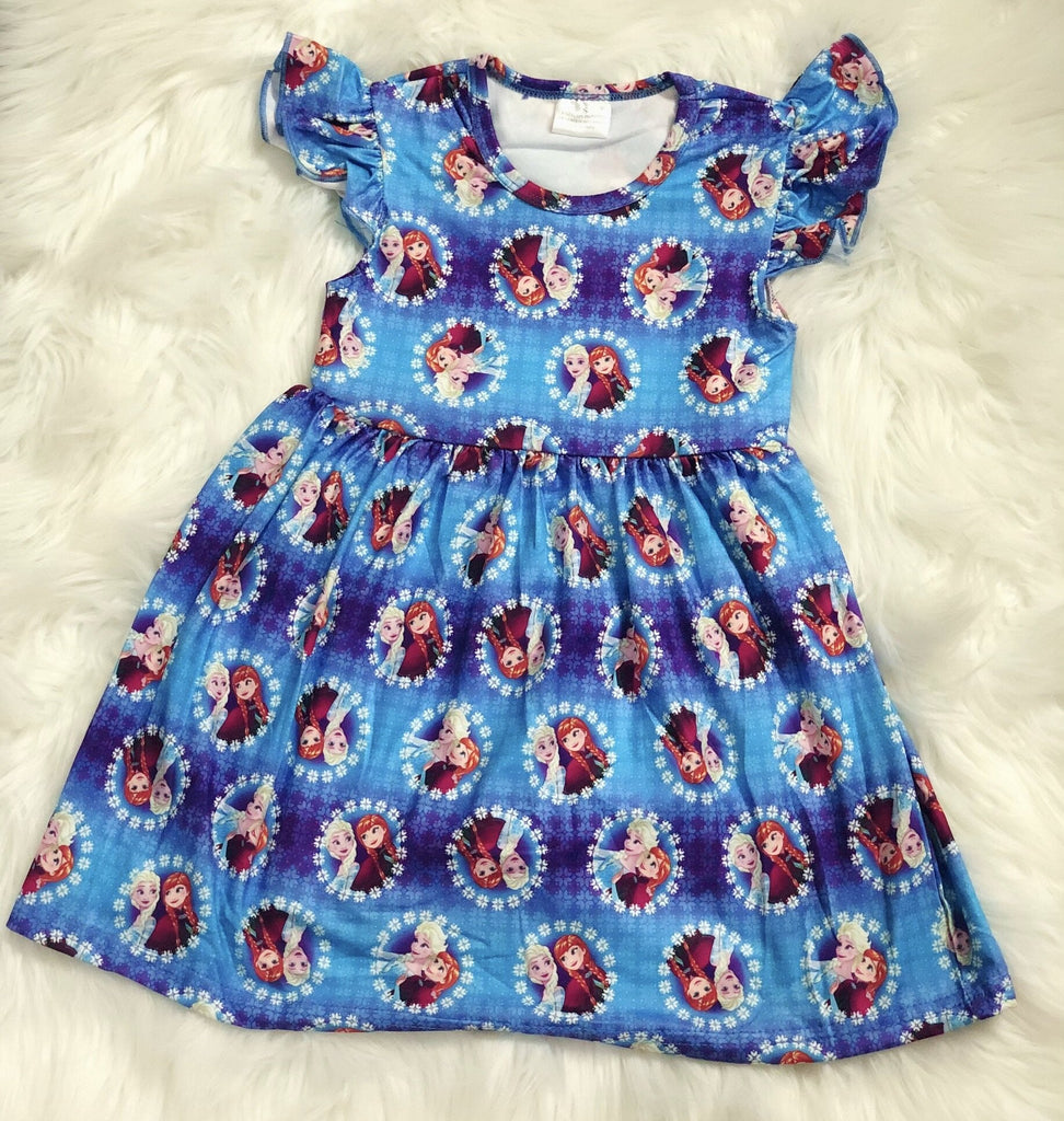 Frozen Girls Pearl Dress - Nico Bella Boutique
