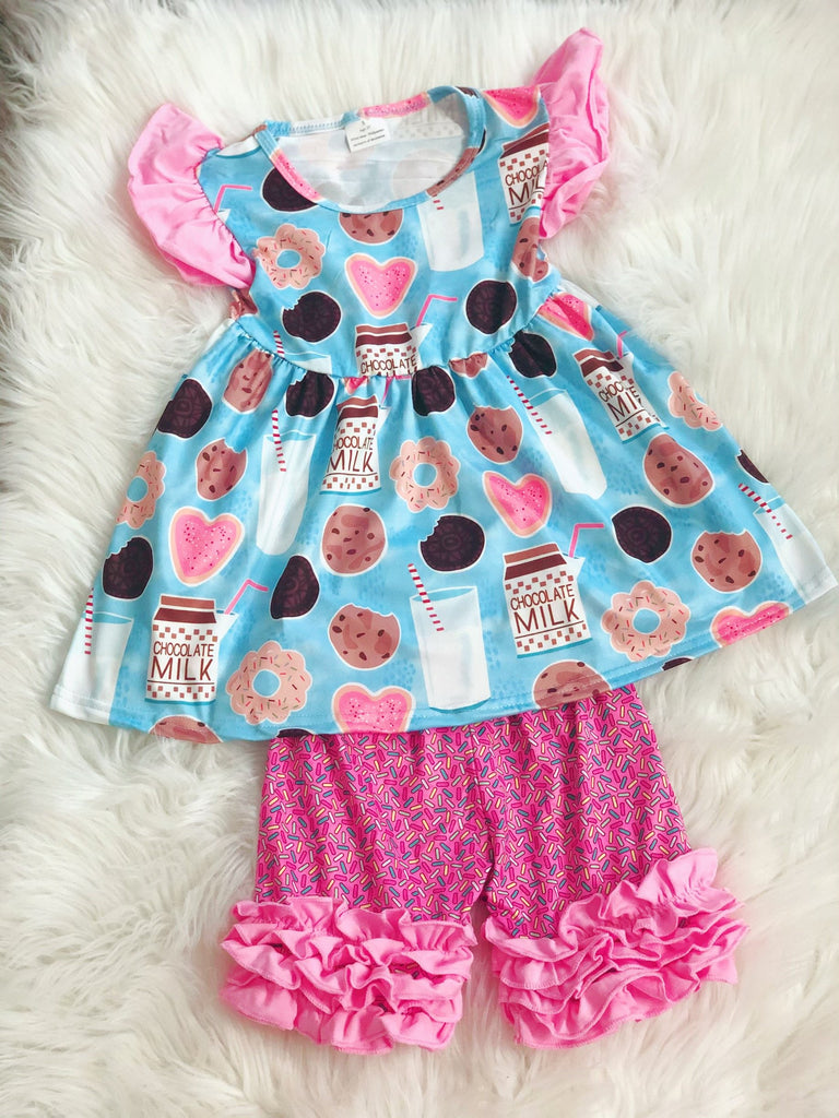 Cookies & Milk Sprinkle Short Set - Nico Bella Boutique