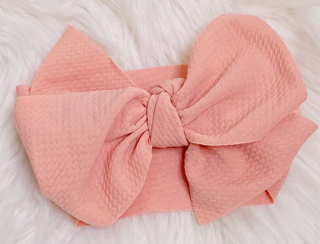 Dusty Mauve Pink Head Wrap Bow Headband - Nico Bella Boutique